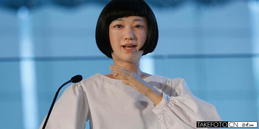 安卓美女机器人亮相日本