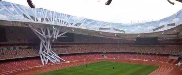 鸟巢坍塌消息不实 迎接世界田联锦标赛开幕所建道具