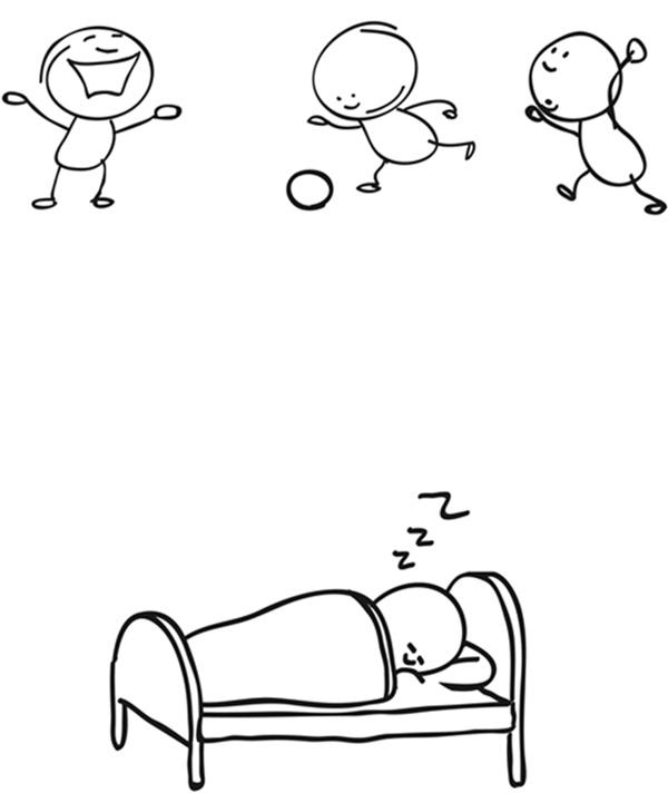 上课睡觉简笔画图片