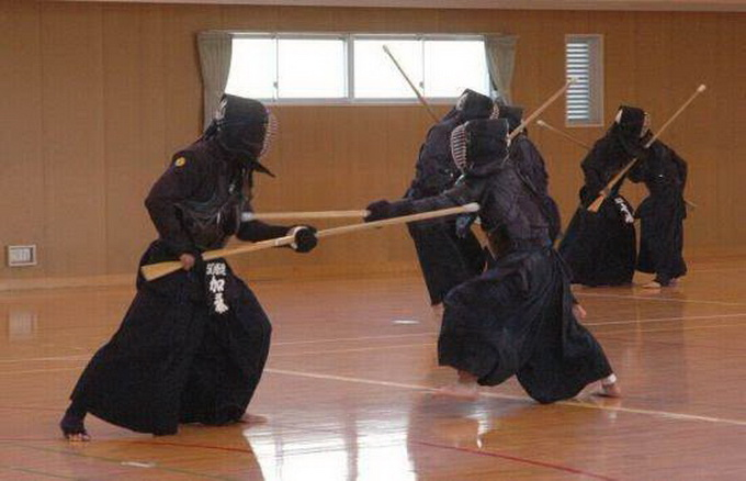 日本中学拼刺刀课
